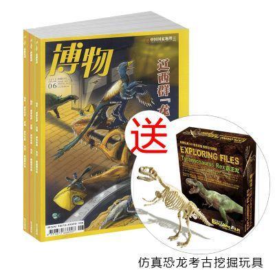 博物+送仿真恐龙考古挖掘玩具